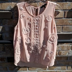 Ro & De Nordstrom appliqué blouse